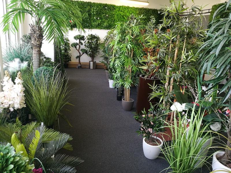 showroom umělých rostliny